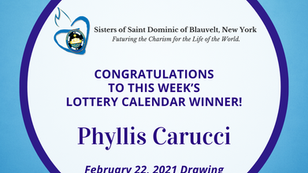 Lottery Calendar Winner - February 22, 2021