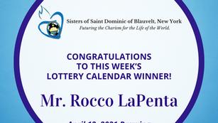 Lottery Calendar Winner - April 12, 2021