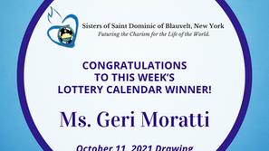 Lottery Calendar Winner - October 11, 2021