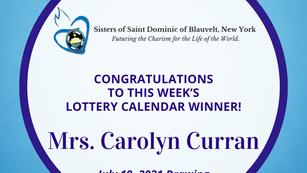 Lottery Calendar Winner - July 19, 2021