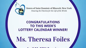 Lottery Calendar Winner - April 26, 2021