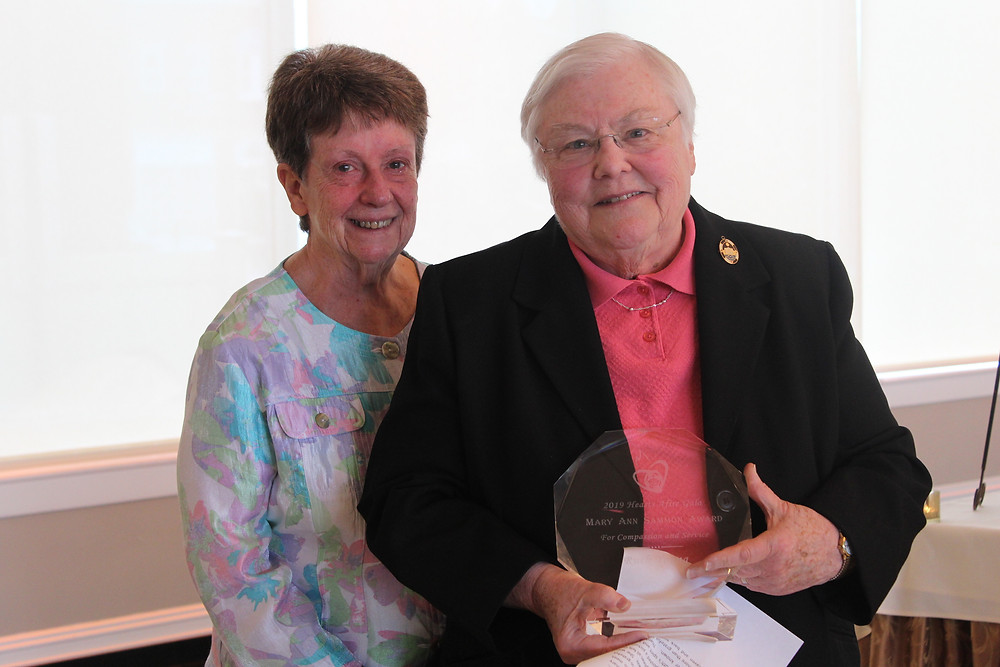 Sisters Michaela Connolly and Anne Daniel Young. Sister Anne Daniel accepted the Award on behalf of her late sister, Ruth Young.