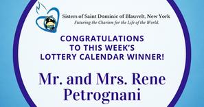 Lottery Calendar Winner - September 14, 2020