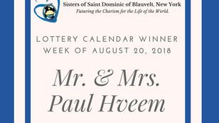 Lottery Calendar Winner Announcement for August 20, 2018