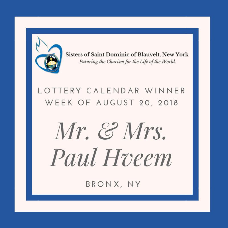 Lottery Calendar Winner