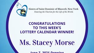 Lottery Calendar Winner - June 7, 2021