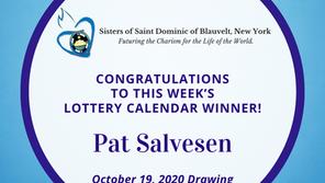 Lottery Calendar Winner - October 19, 2020