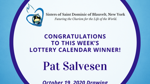 Lottery Calendar Winner - October 19, 2020