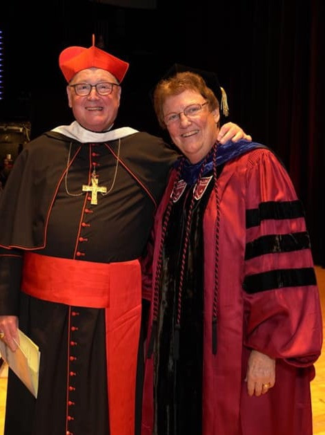 Cardinal Timothy Dolan and Sister Mary Eileen O'Brien
