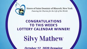 Lottery Calendar Winner - October 12, 2020