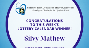 Lottery Calendar Winner - October 12, 2020