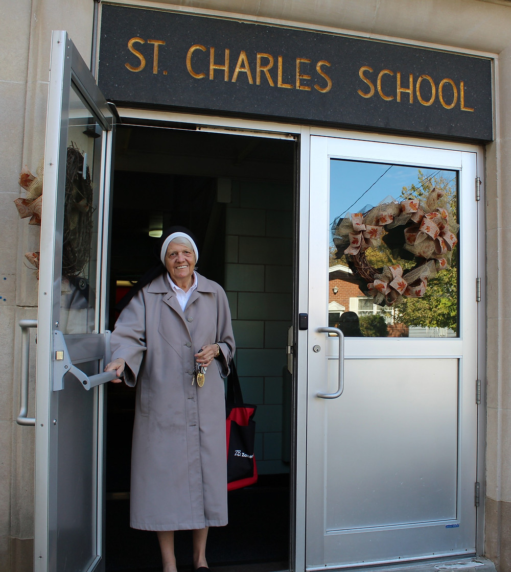 Sister Jeanine Conlon at St. Charles School in Staten Island