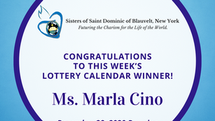 Lottery Calendar Winner - December 28, 2020