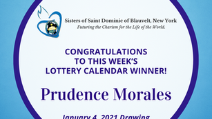 Lottery Calendar Winner - January 4, 2021