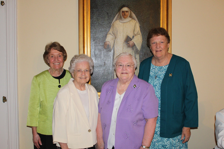 Sisters Maureen Gibbons, Kathleen Sullivan, Anne Daniel Young, and Mary Eileen O'Brien