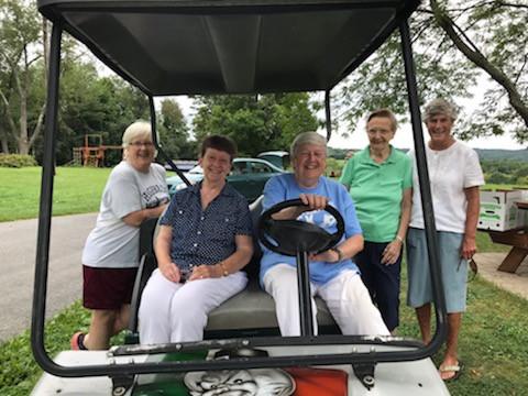 Sisters Didi Madden, Michaela Connolly, Ellenrita Purcaro, Gertrude Simpson, and Mary Ann Collins at Harmony Farm