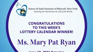 Lottery Calendar Winner - June 28, 2021