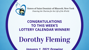 Lottery Calendar Winner - January 1, 2021