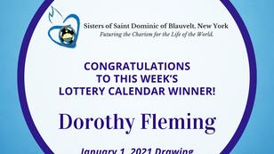 Lottery Calendar Winner - January 1, 2021