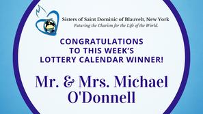 Lottery Calendar Winner - November 16, 2020