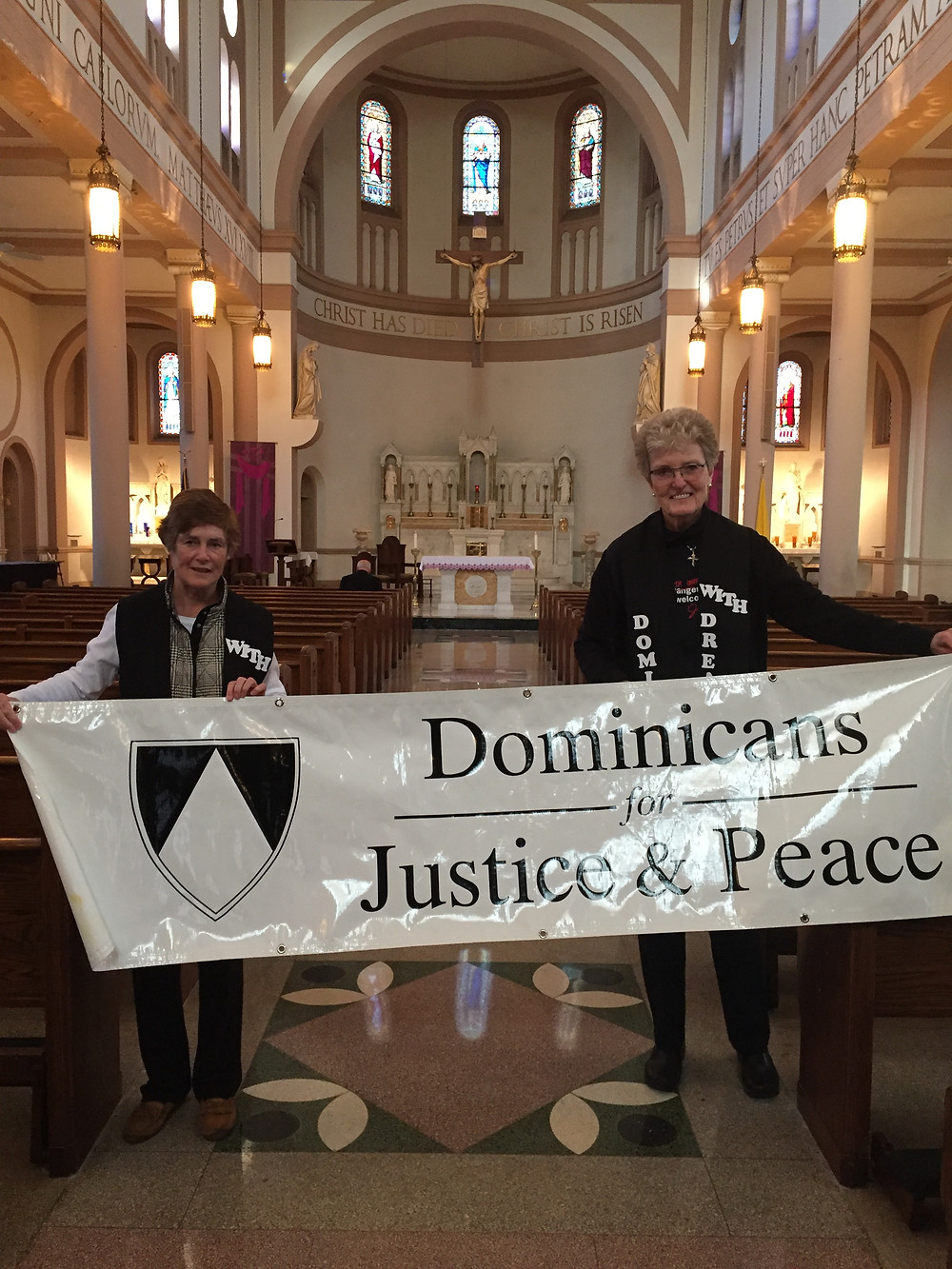 Sisters Mary Ann Collins and Arlene Flaherty at Catholic Day of Action with Dreamers