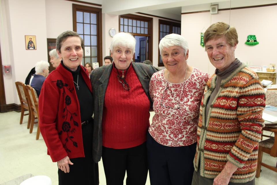 Sisters Mary Flood, Noreen Walsh, Dottie Maxwell, and Mary Ann Collins at a 2018 National Catholic Sisters Week event.