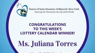 Lottery Calendar Winner - May 10, 2021