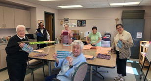 Embracing Faith Through Community: Making Masks at Marion Woods