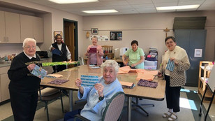 Embracing Faith Through Community: Making Masks at Marion Woods