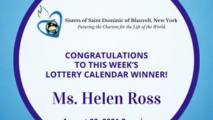 Lottery Calendar Winner - August 23, 2021