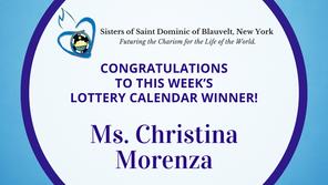 Lottery Calendar Winner - September 20, 2021