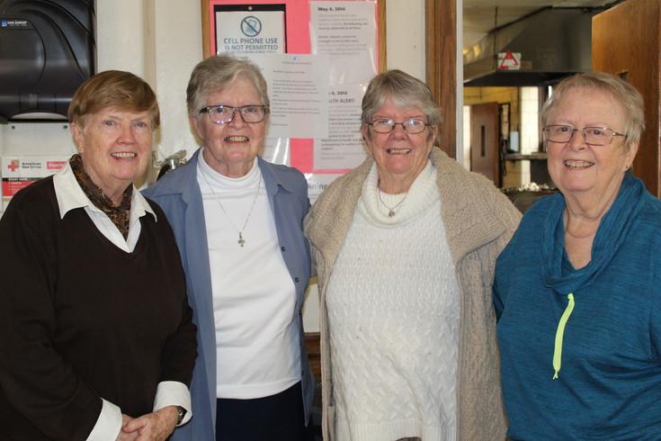 Sisters Joan Marie McKinney, Mary Doris, Maggie McDermott, and Cely Byrnes