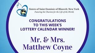 Lottery Calendar Winner - May 1, 2021