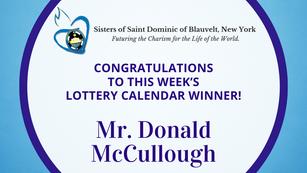 Lottery Calendar Winner - August 15, 2021