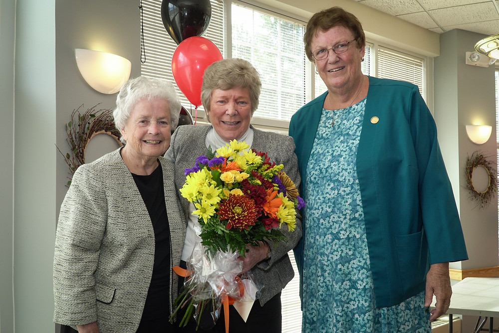 Sisters Kathleen Sullivan, Barbara McEneany, and Mary Eileen O'Brien