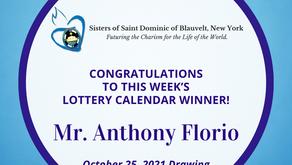 Lottery Calendar Winner - October 25, 2021