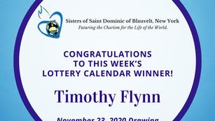 Lottery Calendar Winner - November 23, 2020