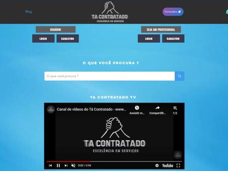 Plataforma de divulgação de serviços Tá Contratado.
