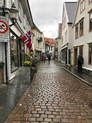 Shops and Cobbled Street