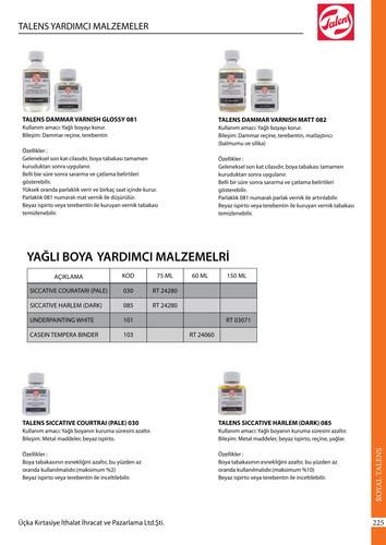 Talens Yağlı Boya Yardımcı Malzemeleri 2