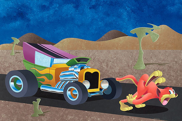 Anthony Ausgang, Anthony Ausgang for sale, Anthony Ausgang MGMT, Cats, Lowbrow, Juxtapoz, Ausgang, Hot rods,
