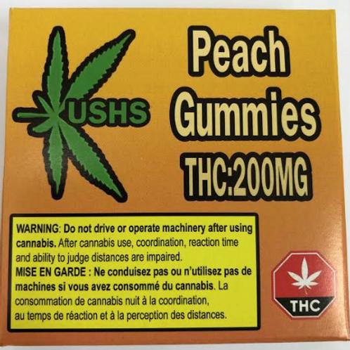 Kush's Peach Gummies - 200mg