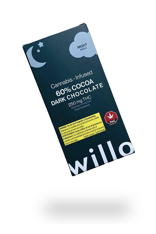 Willo – Cannabis Infused 60% Cocoa Dark Chocolate – 250mg
