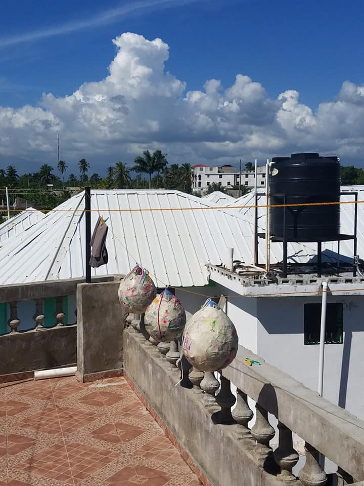 Water cistern on top of Oasis Orphanage in Haiti