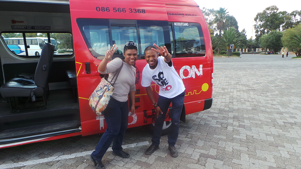 Me and my tour guide through Soweto in Johannesburg