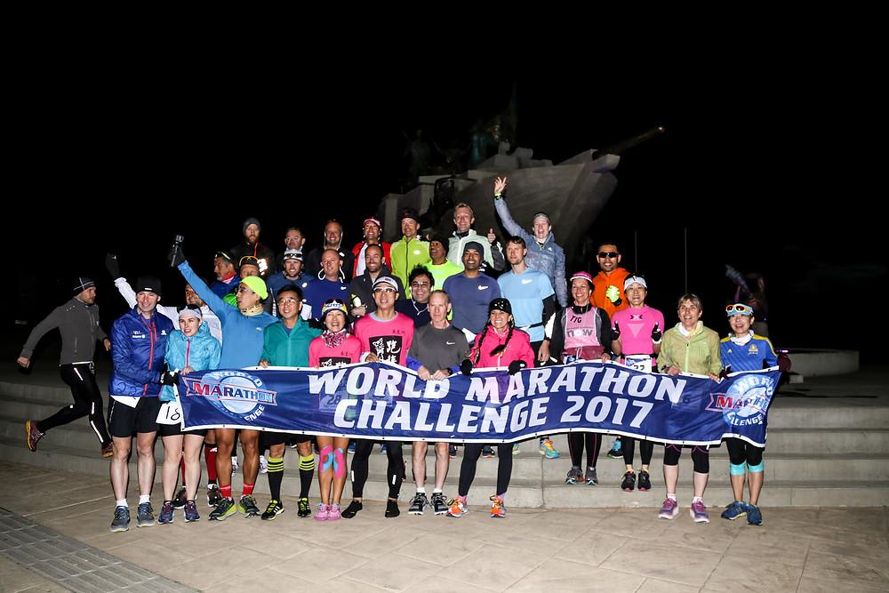 Todos los runners en la Punta Arenas