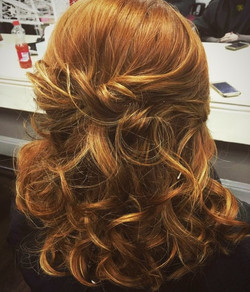 Hair Up with Curls