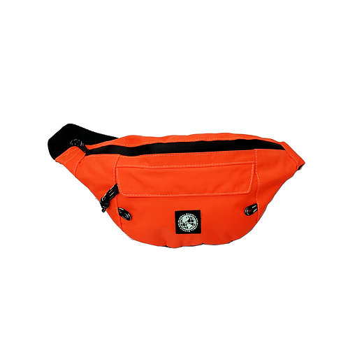 Neon front zip pocket bum bag