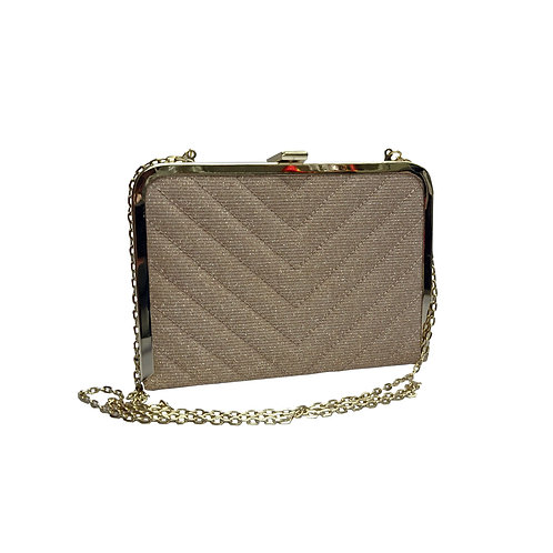 Quilted hardcase clutch