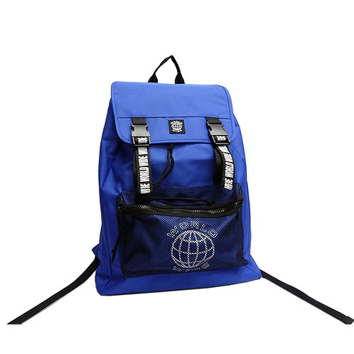 Mesh zip pocket backpack